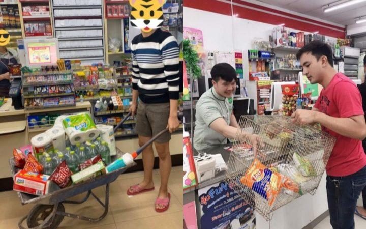 11 Potret Kocak Orang-Orang yang Menghindari Kantong Plastik Saat Belanja. Idenya Keren sih~